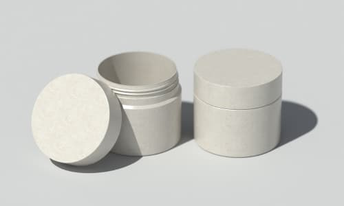 Sustainable fully degradable cosmetic jars